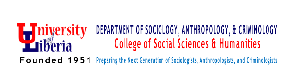 DEPARTMENT OF SOCIOLOGY, ANTHROPOLOGY, & CRIMINOLOGY